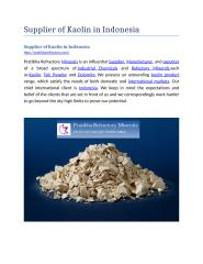 Supplier of Kaolin in Indonesia.docx