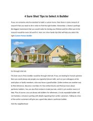 4 Sure Shot Tips to Select A Builder.pdf