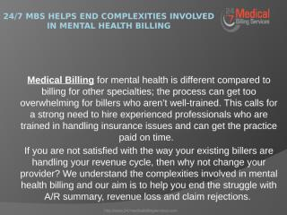 247 MBS Helps End Complexities Involved in Mental Health Billing.pptx