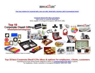 Top 10 Corporate Diwali Gifts ideas & options for employees, clients, customers.pdf