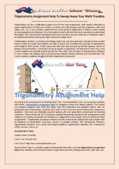 Trigonometry Assignment Help To Sweep Away Your Math Troubles.pdf