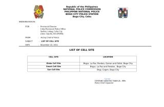 List of Cell Site.doc