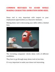 Common mistakes to avoid while making character animation demoreel.docx new.pdf