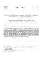 Innovation and the competitiveness of industries.PDF