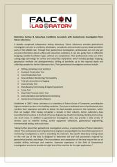 Determine Surface & Subsurface Conditions Accurately with Geotechnical Investigation from Falcon Laboratory.pdf