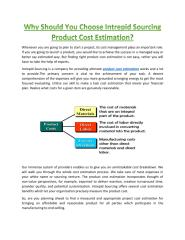 Why Should You Choose Intrepid Sourcing Product Cost Estimation.docx.pdf